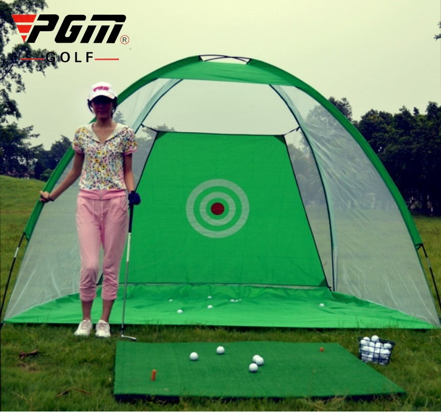 3M Golf Training Aids Indoor/Outdoor Foldable Golf Hitting Cage Garden Grassland Golf Practice Net Training Equipment A960