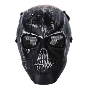 Image 1 - Leger Schedel Skelet Airsoft Paintball Bb Gun Full Face Game Bescherm Safe Mask Zilver Zwart