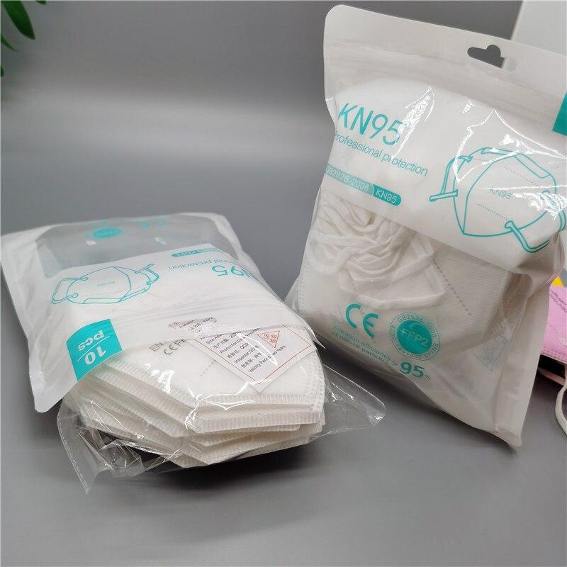 Multicolore adulte 5 couches noir FFP2 KN95 Mascarilla respirateur tissu masque facial KN95 filtre bouche anti-poussière réutilisable ffp2masque 2