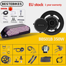 Electric-Bike-Conversion-Kits Motor BBS01 Engine Mid-Drive 8fun 18650 Battery 36v 350w