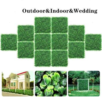 Artificial Hedge Boxwood Panels Décor Or UV Protected Suitable For Outdoor, Indoor, Garden, Fence, Backyard