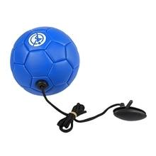 Football Training Ball Kick Soccer Tpu Size 2 Kids Adult Futbol with String Beginner Trainer Practice Belt,Blue Color
