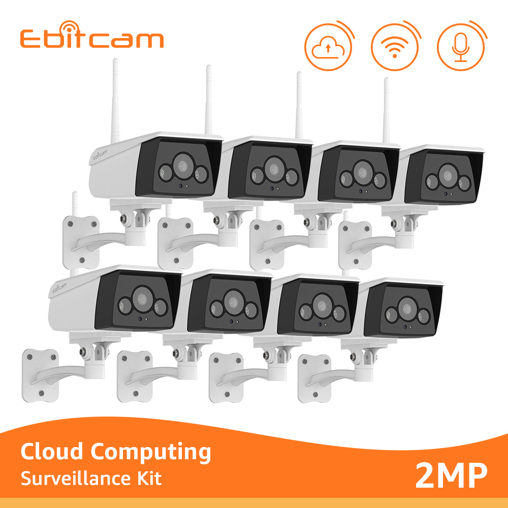 Ebitcam 1080p Wifi IP caméra nuage extérieur sans fil caméra de Surveillance système projecteur caméras de sécurité Wifi deux voies Audio