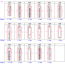 20-50#20#22#25#26#27#28#29#31#38#39#40#50# лезвие ключа автомобиля embryo ключ автомобиля Embryo замена головки ключа