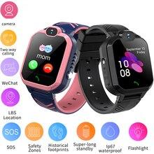 Многофункциональные детские Смарт-часы с функцией вызова, GPS-локатором, трекером, монитором защиты от потери, кнопкой SOS, водонепроницаемые ...