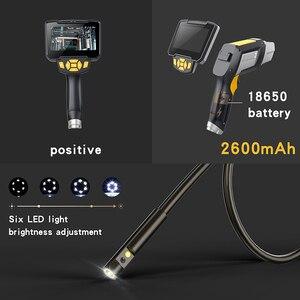 """Image 5 - Endoscope tenu dans la main portatif de double lentille 4.3 """"caméra dinspection décran avec lendoscopie numérique industrielle de 6 LED 8mm avec la carte de 32GB TF"""
