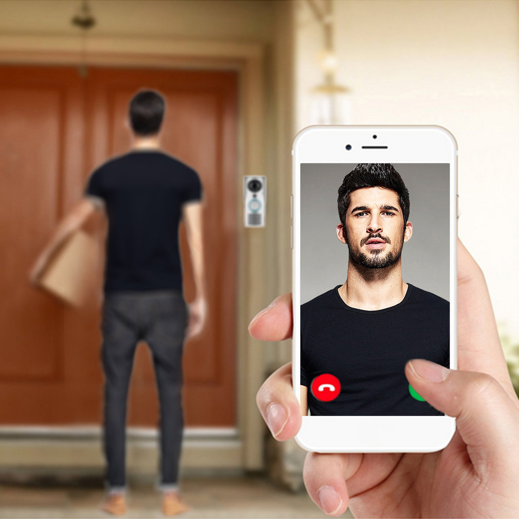 LESHP Smart 2.4G Wifi Doorbell HD 1080 X 720P Camera Smart Guard & APP Live-view Infrared Night Vision 180 Degree Wide Angle
