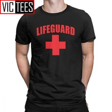 Men's T-Shirt Lifeguard Humorous 100 Percent Cotton Red Lifeguarding Unisex Uniform T Shirt Camisas Hombre Oversized(China)