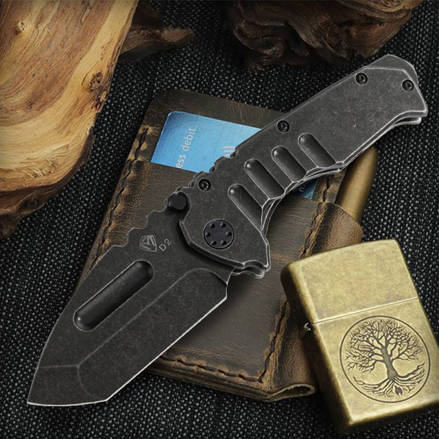 Outdoor heavy armor D2 steel camping hunting knife Saber Survival tourist knife Hiking survival knife travel outdoor tool 60HRC 5