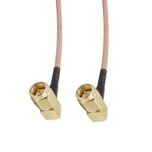 Allishop 30 cm/50 cm/1 m cabo coaxial sma macho ângulo direito para sma macho ângulo direito para rg316 conjunto de cabo coaxial