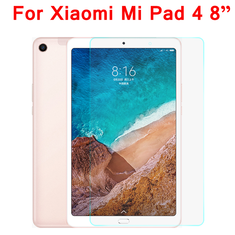 Tempered Glass For Xiaomi Mi Pad 4 Screen Protector Glass For Xiaomi MiPad 4 MiPad4 8.0 Inch Protective Glass Film