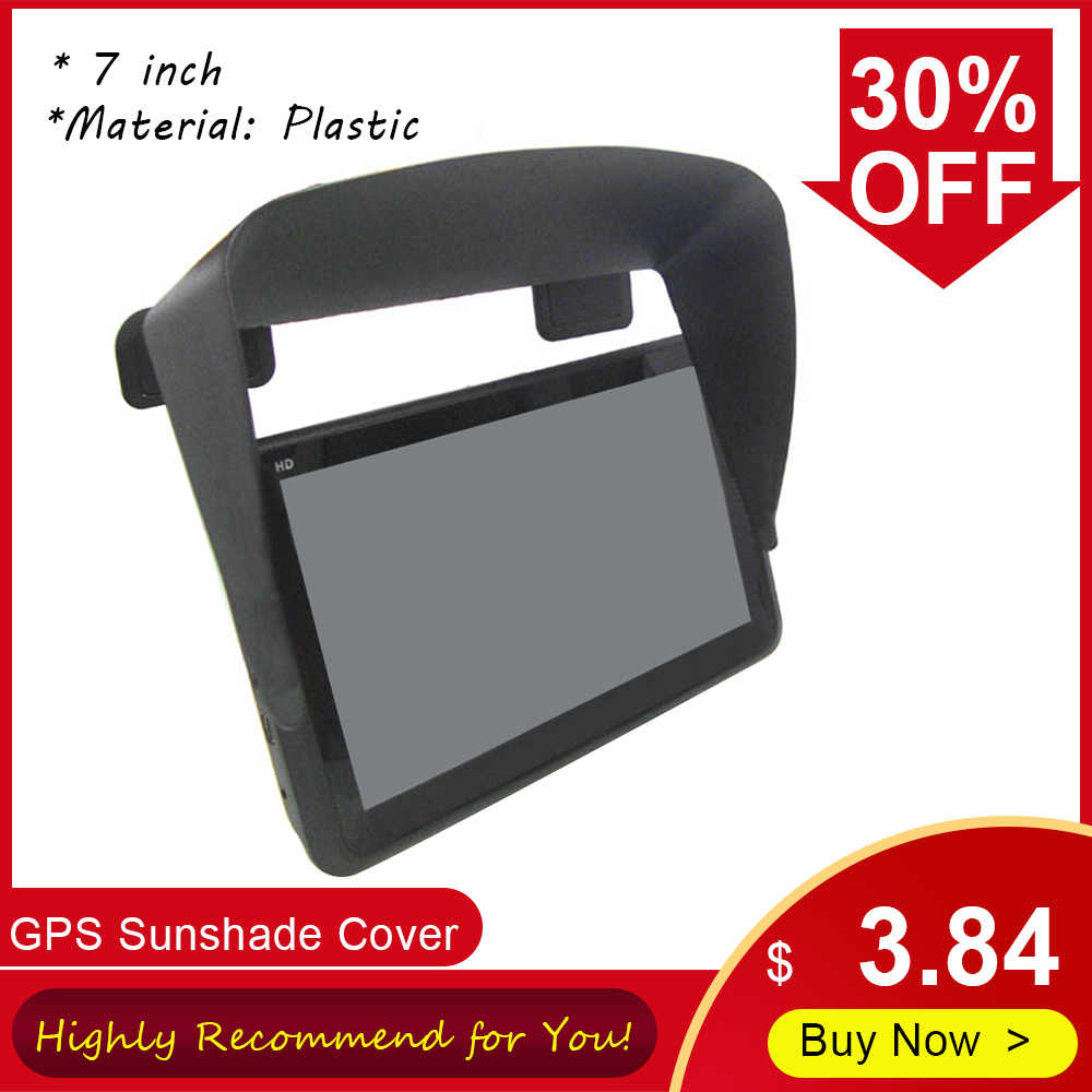 Universal 7 inch GPS Sun Shade Cover Car Navigation Visor Plus Flexible Visor Extension for GPS Navigation Accessories