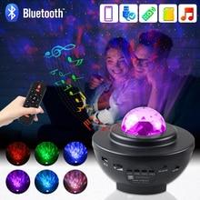 Lamp USB Night-Light Star Projector Ceiling-Decor Christmas-Gift Music Bluetooth Oceanwave