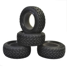 4PCS RC Rally Car Black Grain Rubber Tires for 1:10 4WD Traxxas Tamiya Kyosho Tires For 1/10 Remote Control Car 4pcs 1 10 high performance rc rally car grain rubber tires and wheels for 1 10 rc on road car traxxas tamiya hsp hpi kyosho