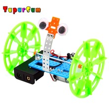 цена на Fantacy Technology DIY Balance Car Model Steam Tecnologia Toy Children Science Educational Learning for Children Student Gift