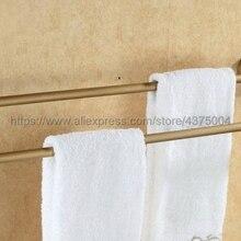 Полотенцесушители двойные рельсы латунные настенные полки держатель полотенец Полка для ванной держатель аксессуаров для ванной полотенцесушитель Nba090