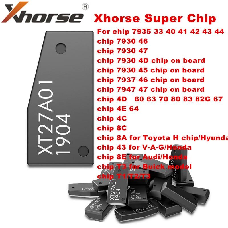 Xhorse VVDI супер чип XT27A01 XT27A66 транспондер для ID46/40/43/4D/8C/8A/T3/47 для VVDI2 VDI ключевой инструмент/мини инструмент для ключей