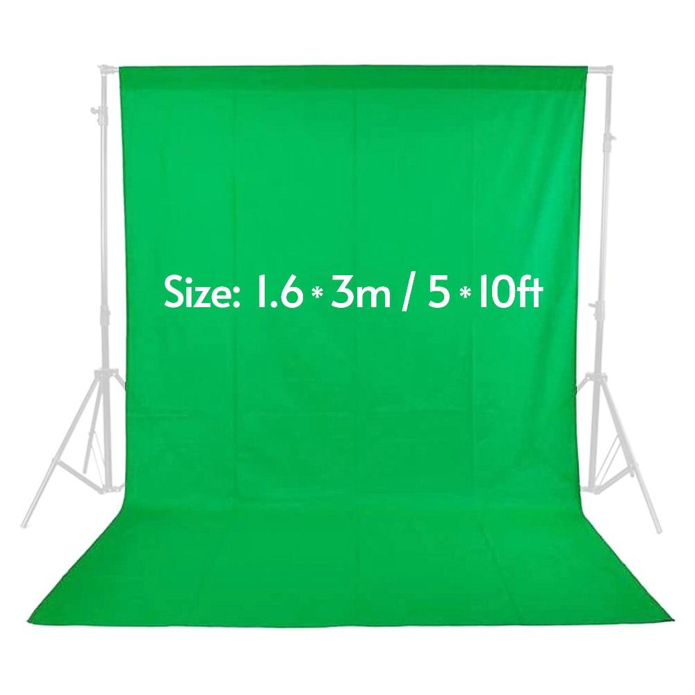 Fond d'écran vert pour Studio de Photographie non tissé mousseline Polyester-coton blanc noir vert Fond Photographie