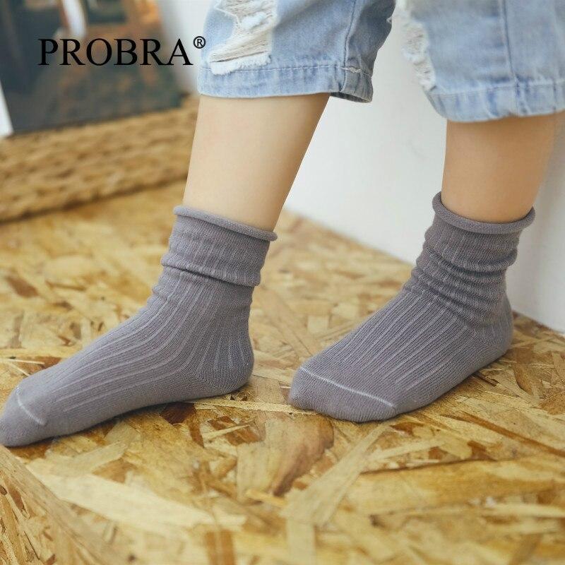 10P 100% Cotton 3-13Years Thin Cotton Boy Kids Socks Girls Socks Girls Baby Sock Skarpetki Brands Solid Color High Quality Socks