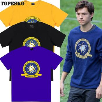 TOPESKO T-Shirts Tom Holland Tees Science & Technology School Print Men Women Short Sleeve T-Shirts Casual Tees
