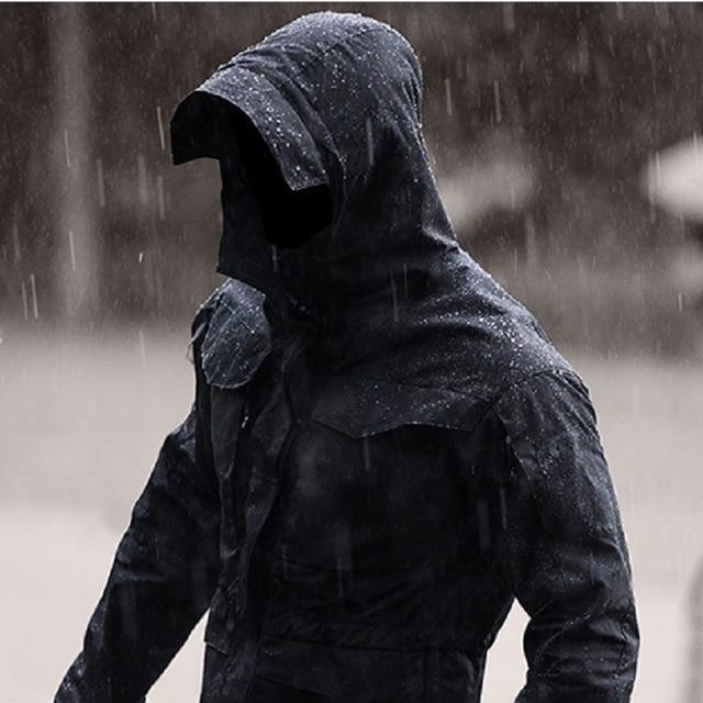 M65CTU Men's Outdoor Tactical Windbreaker Jacket Windbreaker Casual Tactical Men  Waterproof Coat Hoodie Military Field Jacket