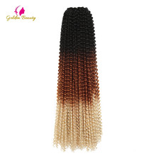 "22"" Passion Twist Crochet Hair Extensions Ombre Synthetic Braiding Ha"