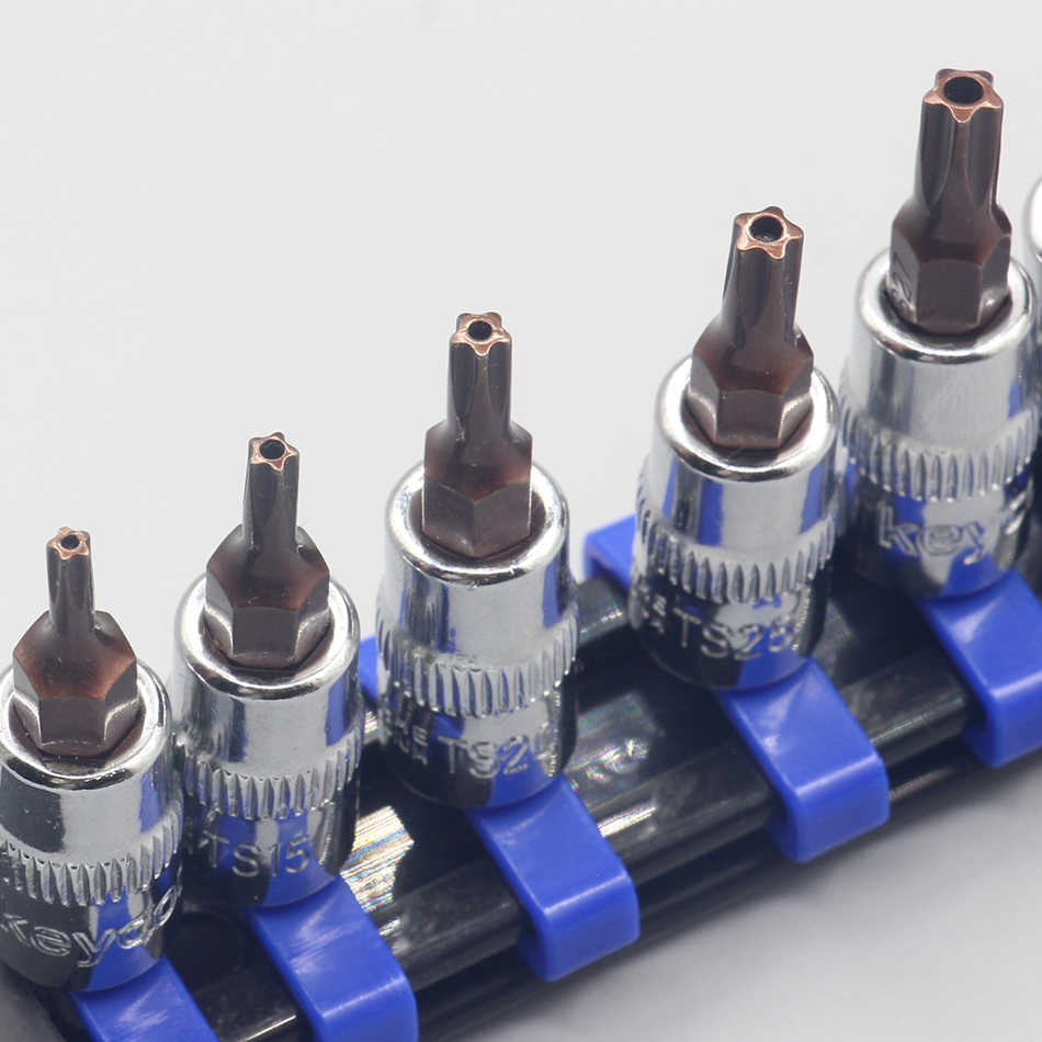 1PC Torx T10-T50 Star Pentalobeไขควงชุด 1/4 นิ้วไดรฟ์ซ็อกเก็ตชุดเครื่องมือซ่อมรถยนต์CR-V Bits