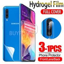 1-3 pçs filme de hidrogel para samsung galaxy a50 a50s protetor de tela sumsung um 50 s 50 s gel de água macia película protetora câmera de vidro