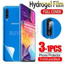 Гидрогелевая пленка 1-3 шт. для Samsung Galaxy A50 A50S, Защитная пленка для экрана Sumsung A 50 S 50 S, мягкая гелевая защитная пленка, стекло для камеры