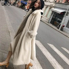 DUOUPA 2019 Autumn and Winter New Imitation Fur Coat Mink Female Loose Large Size Fat Mm200 Kg Long Velvet