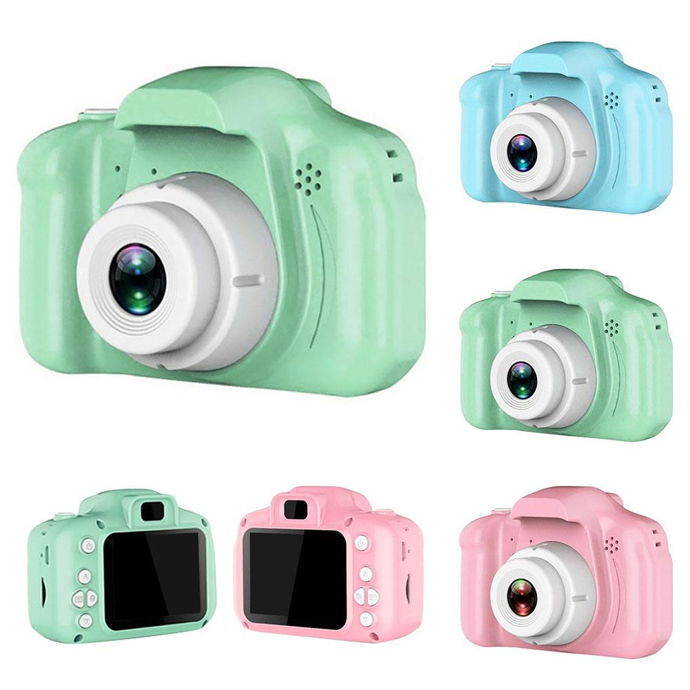 2 Inch Mini Kids Digital Camera Children HD Screen USB Rechargeable Digital Camera Cartoon Cute Toy Gift