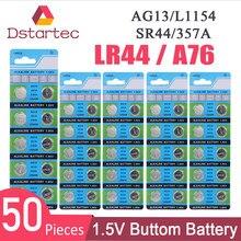 Pile bouton alcaline, 50 pièces, AG13 2020 V LR44 L1154 RW82 RW42 SR1154 SP76 A76 357A pila LR 44 SR44 AG 13 30mAh, nouveauté 1.5