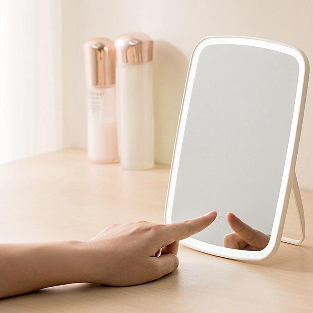 Youpin JORDAN&JUDY LED Makeup Mirror intelligent Portable Desktop Ladies Makeup Light Adjustable Women Girls Rectangle Mirrors
