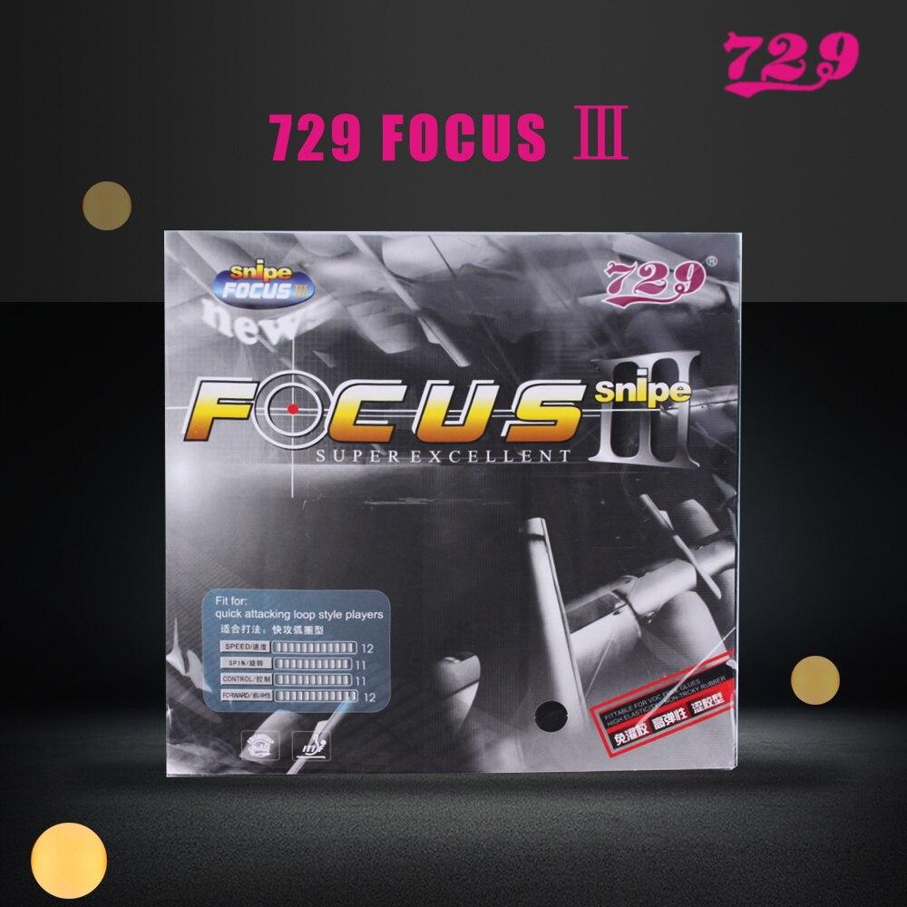 Original 729 FOCUS III FOCUS 3 FOCUS-3 Snipe Pips-en caoutchouc de ping-pong de ping-pong avec éponge 2.1mm