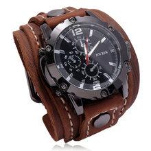 Jsingshow – montre-bracelet de luxe pour hommes, à Quartz, en verre bleu, Style Punk, à la mode