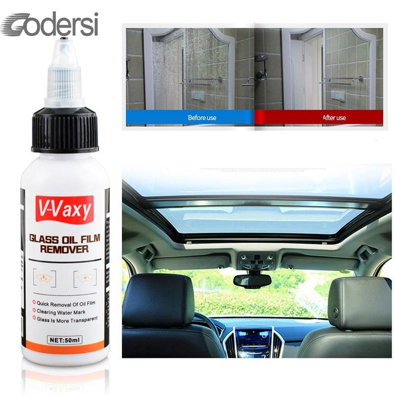 50ml Car Watermarked Oil Stain Removal Window Glass Oil Film Remover Cleaner Bathroom Cleaner Car Cleaning Accessories