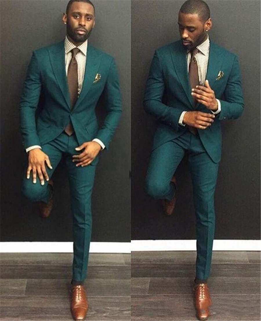 2020 Custom Made Men Causal Suit Formal Man Party Suits Grooms Wedding Tuxedos (Jacket+Pant)