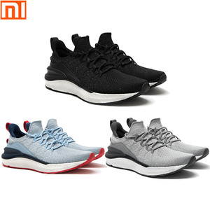 Image 1 - New Xiaomi Mijia sports shoes 4 sneakers a molding technology textile elastic knit shock absorber sole running comfort shoes 3