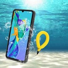 P30 Pro กันน้ำสำหรับ Huawei P20 Pro กรณี IP68 กันน้ำเต็มรูปแบบสำหรับ Huawei P30 P20 Lite Mate 20 ดำน้ำ Pro Coque
