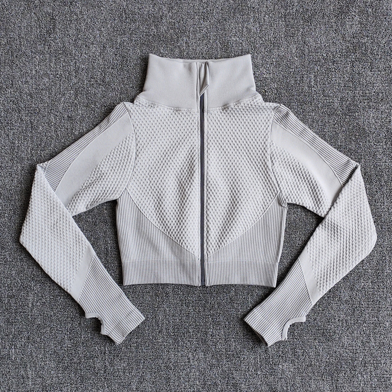 Yoga-Top Vital Seamless Yoga Shirt Women Fitness Zipper Long Sleeve Workout Tops Gym Clothes Sportswear Running T-Shirts