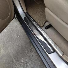 Estilo do carro para kia picanto acessórios do peitoril da porta de aço inoxidável guarnição placas scuff protetor guardas 2012 2013 2015 2016 2018