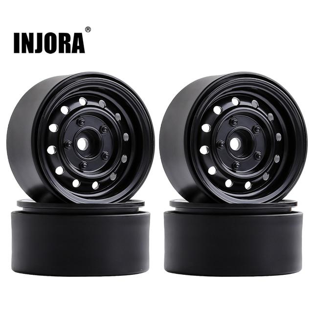 "INJORA 4Pcs 1.9"" Beadlock 12-Holes Wheel Rim Hub for 1/10 RC Crawler Car Axial SCX10 90046 D90 Traxxas TRX-4 1"