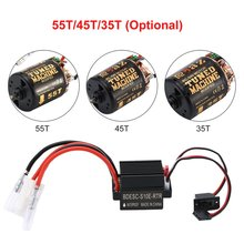 Rc 540 35T 45T 55T Brushless Motor With WP-1060-RTR 60A Waterproof ESC for RC Car Rock Crawler rc torque tuned motor rs 540 brushed 8t 14t 19t 21t 27t 35t 45t 55t for 1 10 off on road car truck rock crawler buggy boat