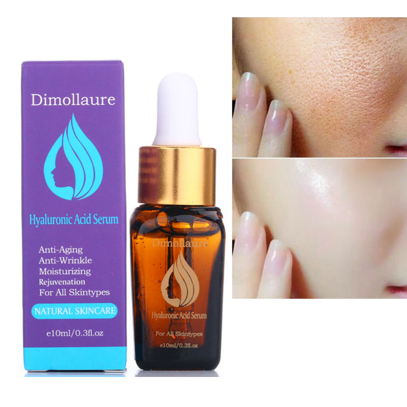 Dimollaure Skin Care Hyaluronic Acid Serum Anti Wrinkle Face Care Anti Aging Collagen Whitening Moisturizing Acne Essence