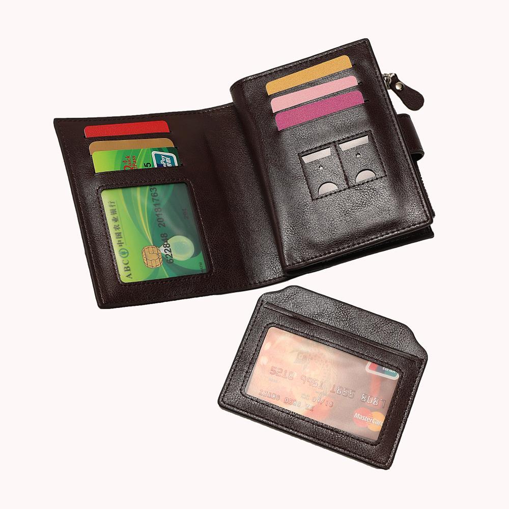 Роскошные мужские кошельки из искусственной кожи на новой застежке-молнии с высокой емкостью, мужская сумка для денег, держатель для карт в долларах, мужской кошелек, короткий тонкий кошелек