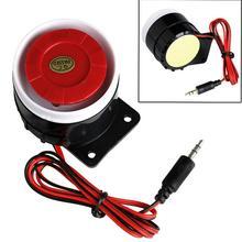 Красный и черный мини проводной кабель 120 дБ громкая сирена рог для домашней безопасности звуковая сигнализация система защиты для дома DC 12 В