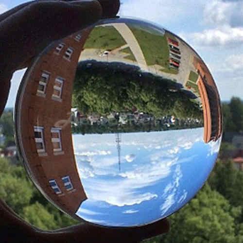 クリアガラスクリスタルボールヒーリング球写真の小道具 Lensball Kristallkugel