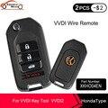 KEYECU xjo04en (английская версия) Xhorse 3 1 /4 кнопки для Honda Style 3 + 1 4 кнопки VVDI ключ инструмент VVDI2 проводной дистанционный ключ