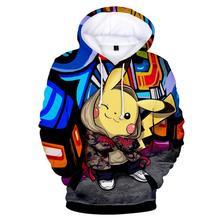 Pikachu Pokemon Go 3D Graphic Sweatshirt Hoodies Men Women Umbreon Sweatshirts Hoodie Pullover Boys Game Jacket Clothes
