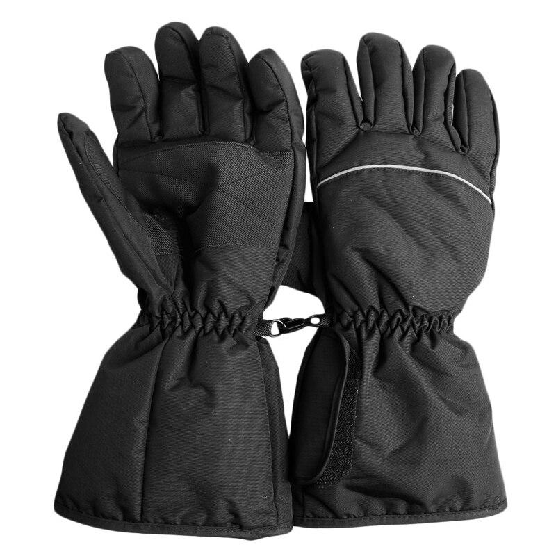 Водонепроницаемые перчатки с подогревом на батарейках, перчатки для сноуборда, катания на лыжах, мотоциклетные, охотничьи зимние теплые пе...